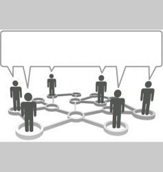 connected people communicate business social vector image vector image
