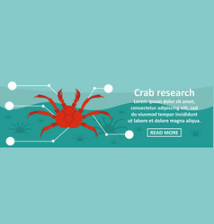 crab research banner horizontal concept vector image vector image