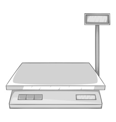 Electronic scale icon gray monochrome style vector