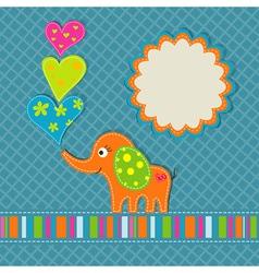 elephant birthday scrapbook card vector image vector image