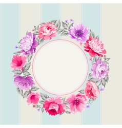 Flower garland vector image vector image