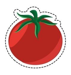 fresh vegetable flat isolated icon vector image