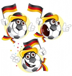 german football fan vector image vector image