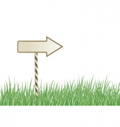 grass sign vector image