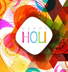 Indian style holi background vector
