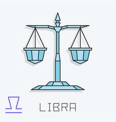 Libra sign vector
