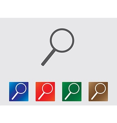 Magnifier icons vector image vector image
