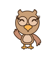 Owl baby animal funny image vector