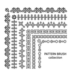 Pattern brush collection arabic style vector image vector image