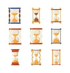 Sand clocks set collection vector