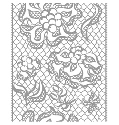 Seamless lace border with flowers vintage fashion vector