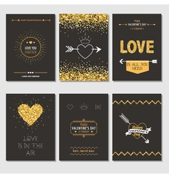 Set of love cards - wedding valentines day vector