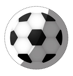sticker colorful silhouette with soccer ball vector image vector image