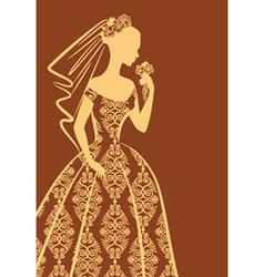 Vintage lady dress vector image vector image