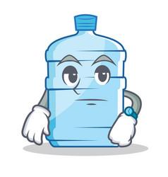 Waiting gallon character cartoon style vector