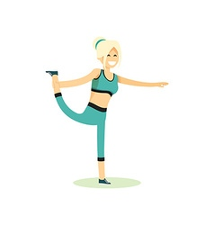 Girl posing pose yoga vector