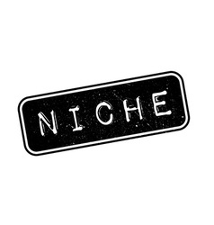 Niche rubber stamp vector