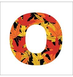 O Letter vector image