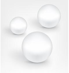 White pearl balls vector
