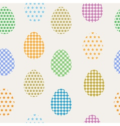 seamless pattern easter eggs vector image