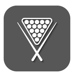 The billiard icon game symbol flat vector