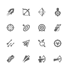 Simple Bows and arrows icons vector image