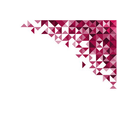 Abstract deep pink geometric on white background vector
