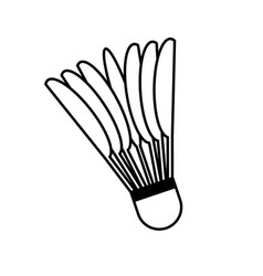 badminton ball isolated icon vector image vector image