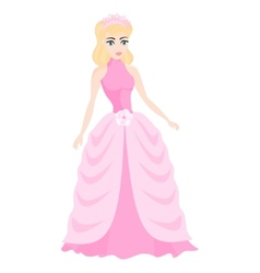 beautiful blonde princess vector image