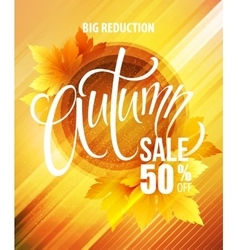 Big fall sale poster design vector