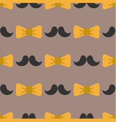 Bow tie background fashion mustache retro hair vector