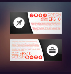 business web horizontal banners vector image