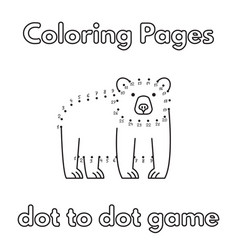 cartoon bear coloring book vector image