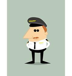 Cartoon Pilot vector image