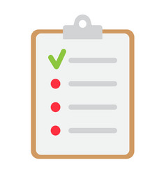 checklist flat icon clipboard and note vector image