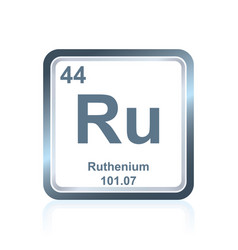 Chemical element ruthenium from the periodic table vector