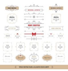 Christmas frames banners big set vector image vector image