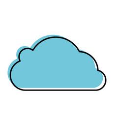 cloud computing symbol vector image