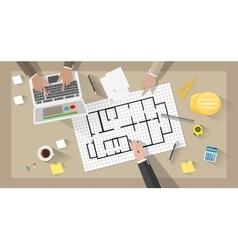 Construction engineer desktop vector image