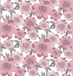 Creative stylized floral seamless pattern abstract vector