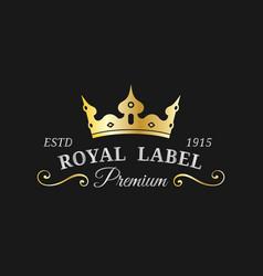 crown logo template luxury corona monogram vector image