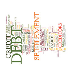 Eliminate debt without bankruptcy text background vector