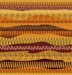 hand-drawn abstract pattern in african style vector image vector image