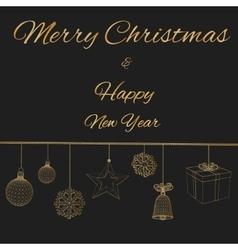 Happy new year Polygon vector image