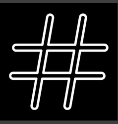 Hashtag white color icon vector