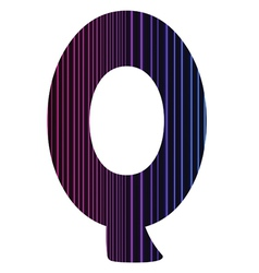 letter Q vector image