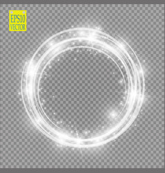 light ring round shiny frame with lights dust vector image