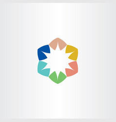 Logo star colorful symbol element sign vector