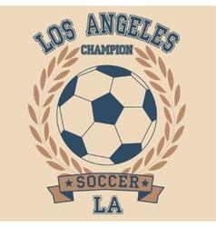 Los angeles soccer vector image vector image