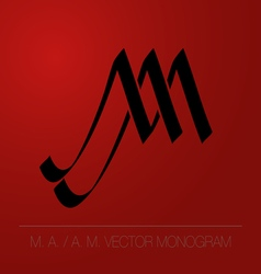 MA AM logo monogram vector image